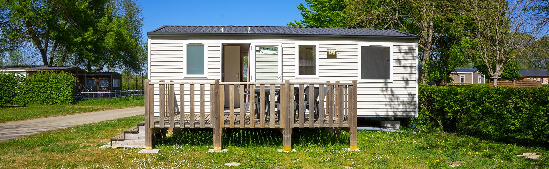 Rustin : mobil-home 6 personnes en location au Camping Le Vieux Moulin