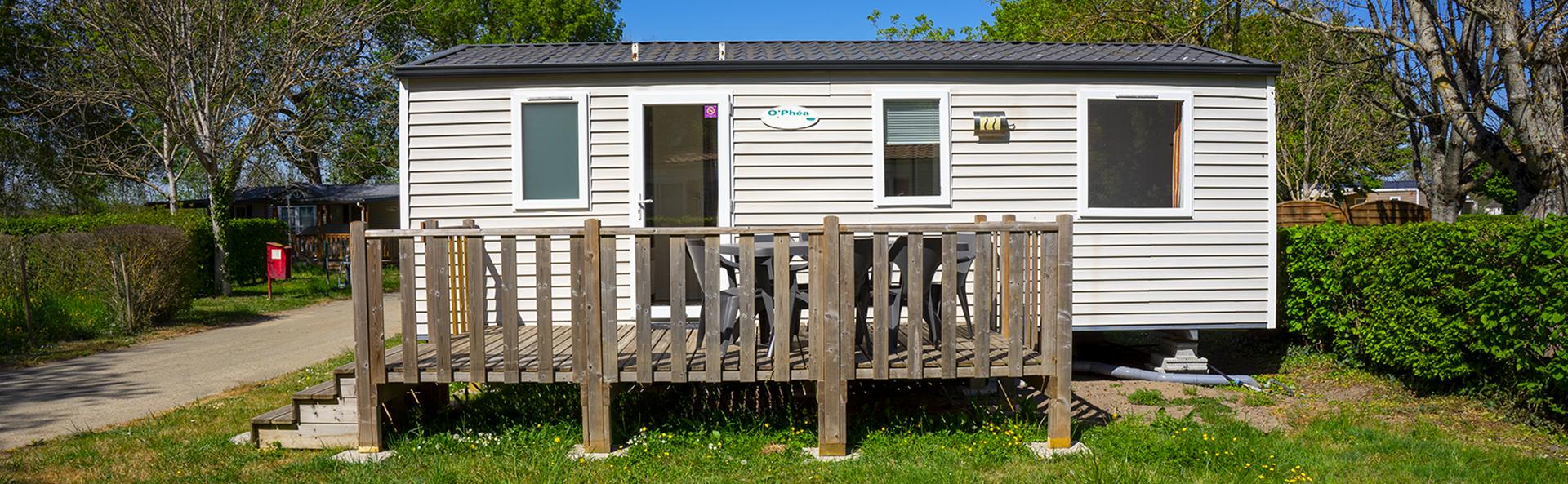 Rustine : mobil-home 6 personnes en location au Camping Le Vieux Moulin